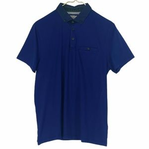 Ted Baker Royal Navy Cotton Jersey Polo